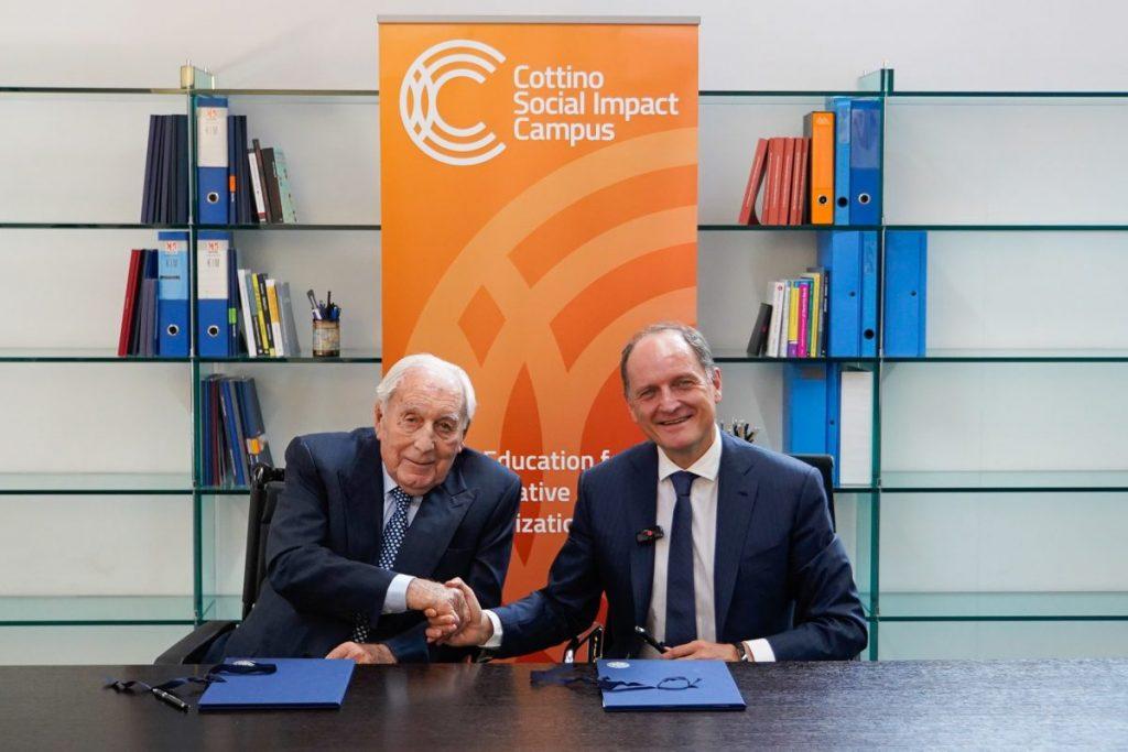 Il Presidente della Fondazione Cottino, Ing Giovanni Cottino e il Rettore del Politecnico di Torino, Prof. Guido Saracco